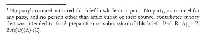 Amicus footnote