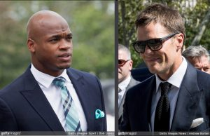 Adrian Peterson and Tom Brady