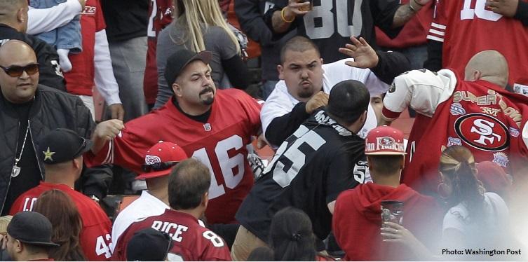 Violence erupts at an NFL game