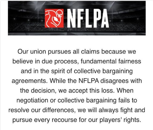 NFLPA statement