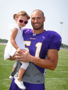 Ben Leber and daughter