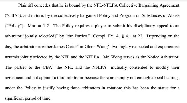 NFLPA Position Statement