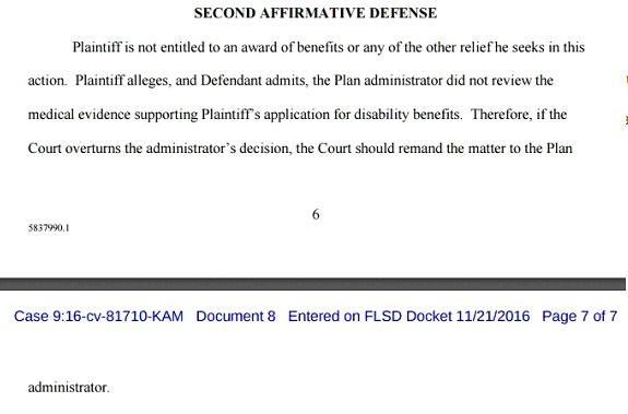 Second Affirmative Defense
