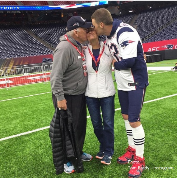 Tom Brady and Parents