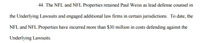 $30million in legal costs