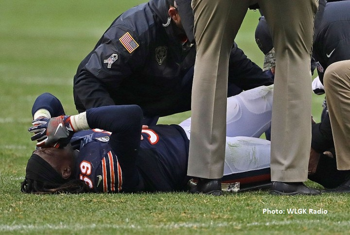 injury during Bears/Titans game