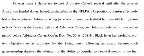 NFLPA statement