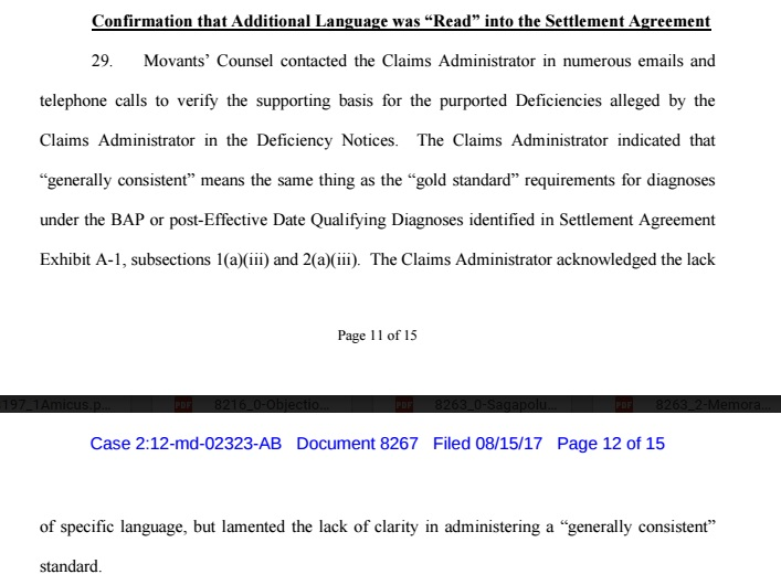confirmation that language was read into settlement