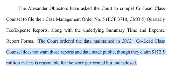 The Court Ordered Data Maintained
