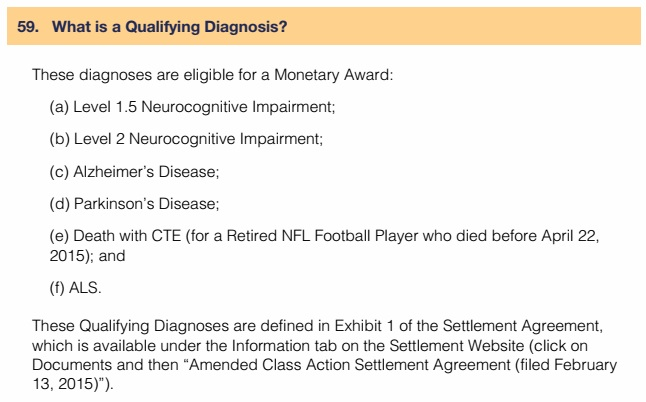 The faqs about nfl concussion settlement claims advocacy for exhibit 1 is a 5 page document which makes frequent references to numerous provisions in the main settlement agreement as well as the 9 page battery in platinumwayz