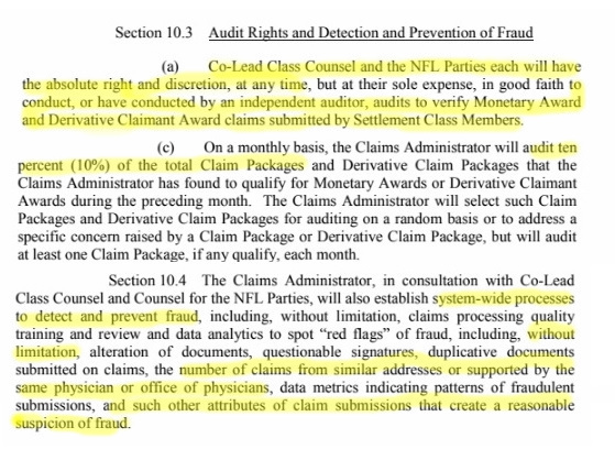 Audit and Fraud provisions