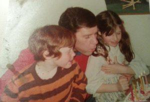 Len Sparks and children