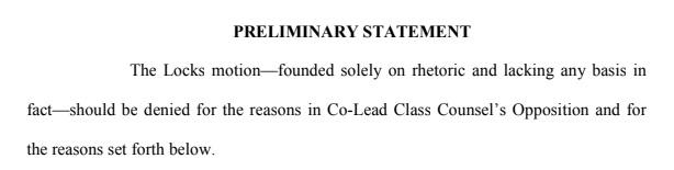 preliminary statement