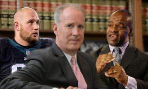 Lane Johnson, Judge Richard Sullivan, and DeMaurice Smith