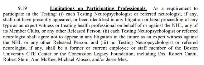 9-19 Physician Limitations
