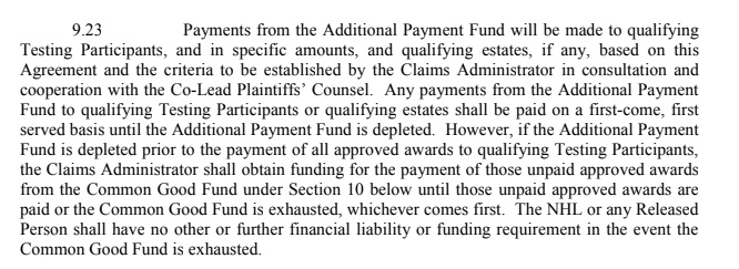 9-23 Additional Payment Fund