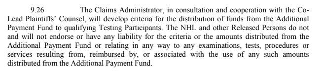 9-26 No NHL Involvement