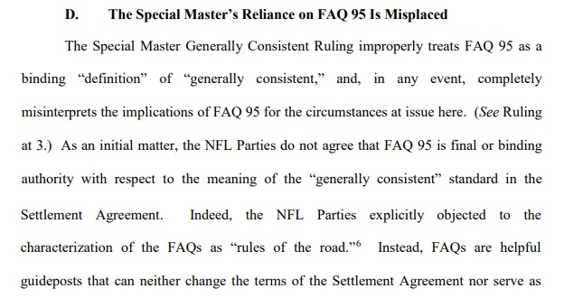 NFL FAQ arguments