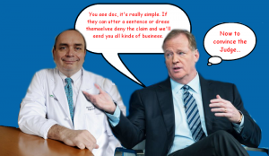 Goodell trains the doctor