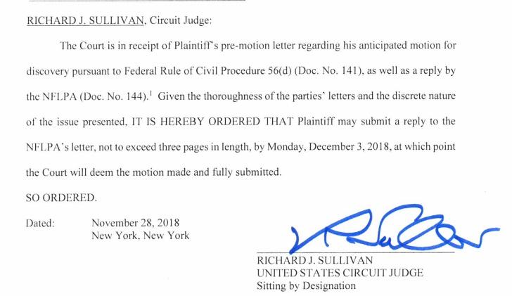 Judge Richard Sullivan order