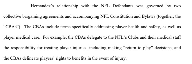 NFL - medical claims