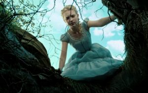 Alice stares down the rabbit hole