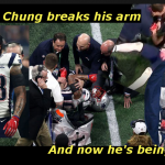 Patrick Chung sued after breaking arm