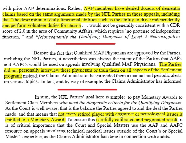NFL concussion settlement appeal