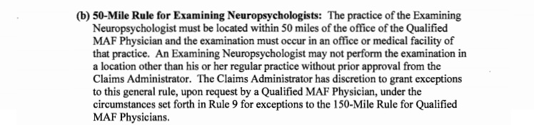 50-mile neuropsych rule