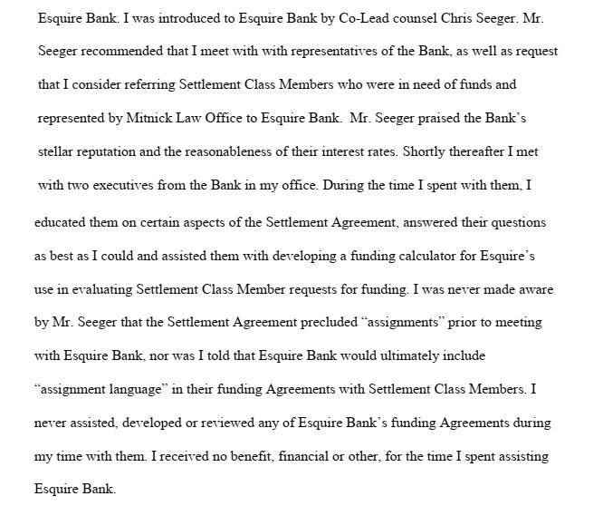 Craig Mitnick Declaration