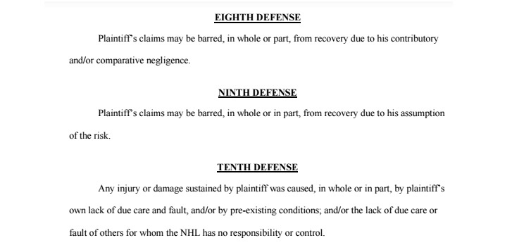 NHL Defenses