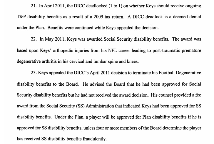 NFL Disability Seeks to Claw Back Benefits Paid to a Former Player