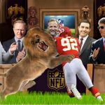 Darren Mickell thrown to lions by #NFL Roger Goodell John Mara, Jed York, Clark Hunt , Mark Davis