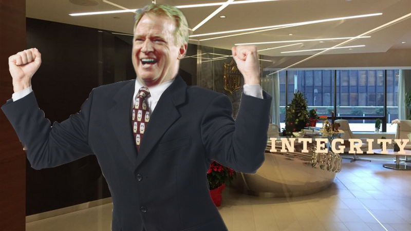 Roger Goodell happy dance NFL Concussion Settlement