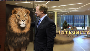 Roger Goodell and lion