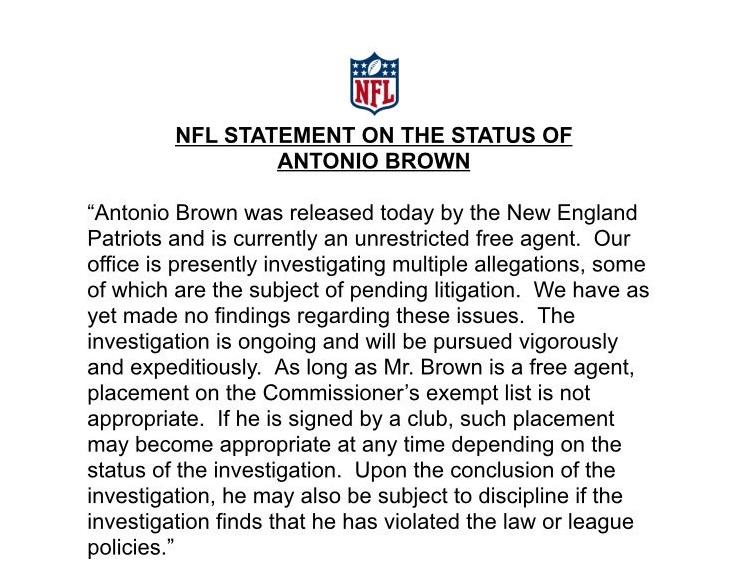 NFL Statement