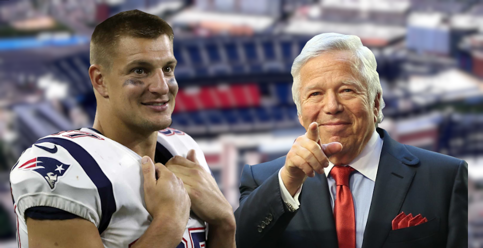 Rob Gronkowski and Robert Kraft
