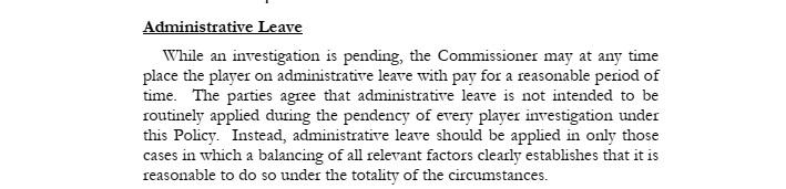 NBA administrative leave