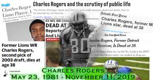 RIP Charles Rogers