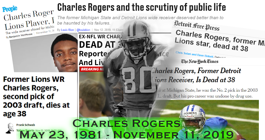 RIP Charles Rogers