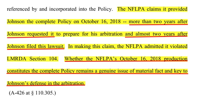 nflpa claims