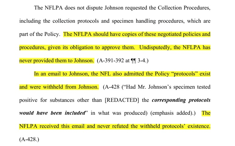 nflpa does not dispute