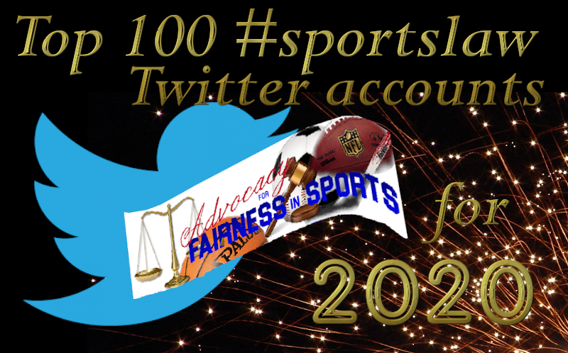 Advocacy for Fairness in Sports Top 100 Twitter Accounts for 2020
