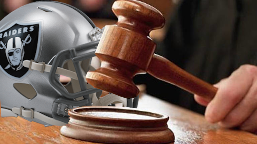 raiders helmet-judge with gavel
