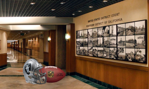 Raiders helmet in Northern District of California Court