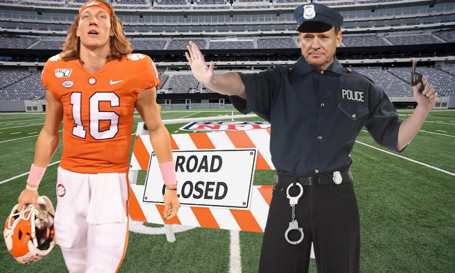 Trevor Lawrence NFL Road Closed