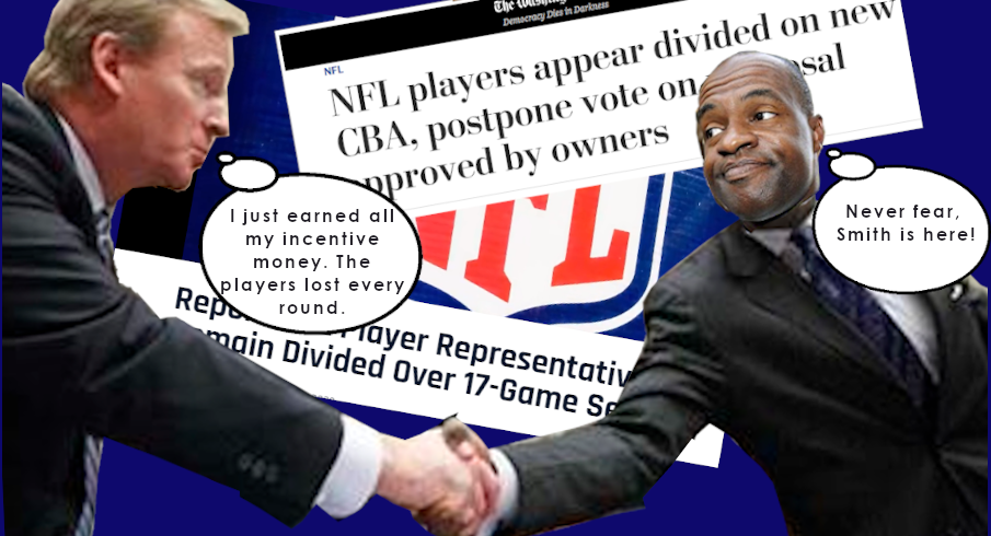 NFL NFLPA CBA Divide and Conquer Roger Goodell DeMaurice Smith