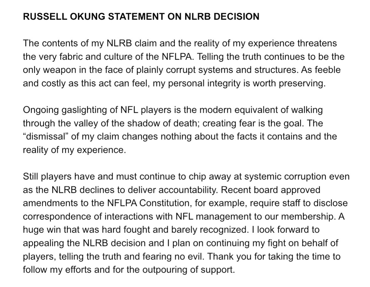 Okung statement