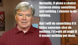 Mark Emmert likes doing nothing