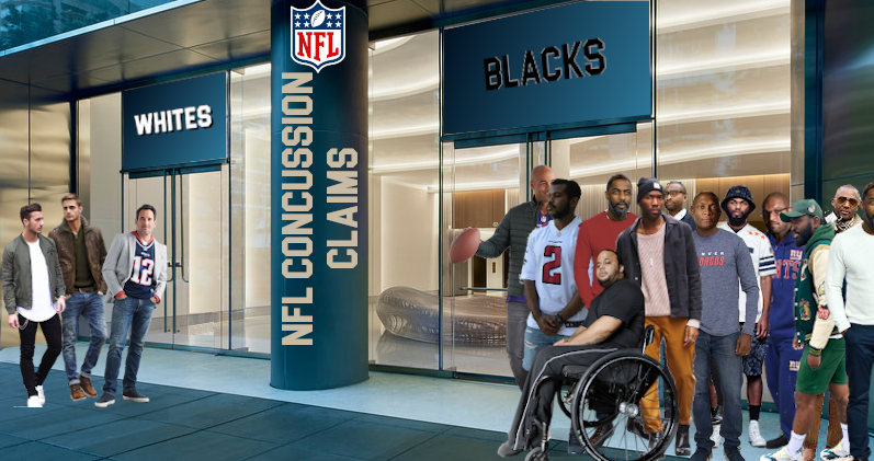 Two Doors One for Whites One for Blacks in NFL Concussion Settlement